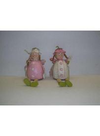 2 filles métal 19 cm (modèle assis)