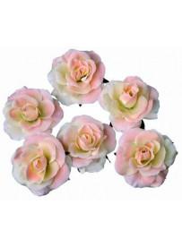 Set de 6 roses rouges flottantes et adhésives
