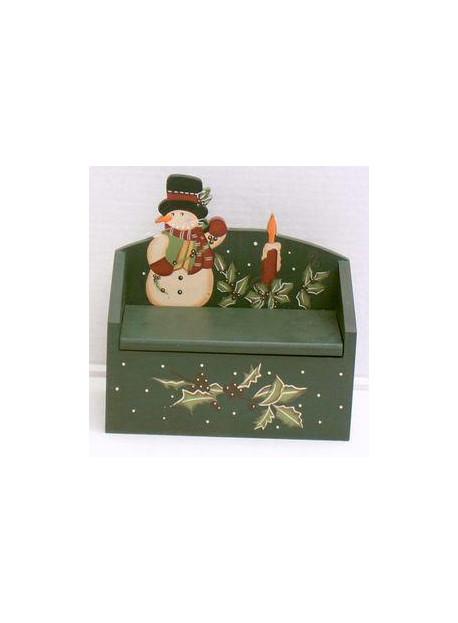 Boîte en bois décoré 19X17X11 cm