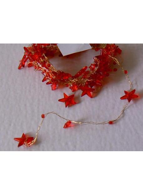 Guirlande de table 5 M étoile rouge