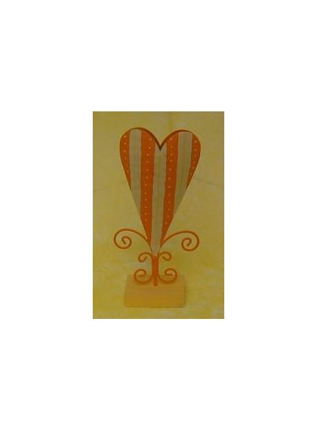 Vase coeur métal 11X24 cm jaune