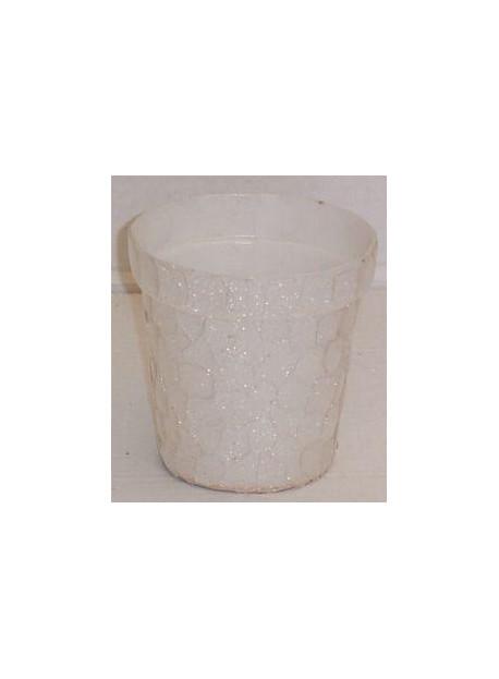 cache pot blanc 11 cm