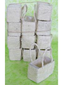 lot de 6 sacs sisal naturel