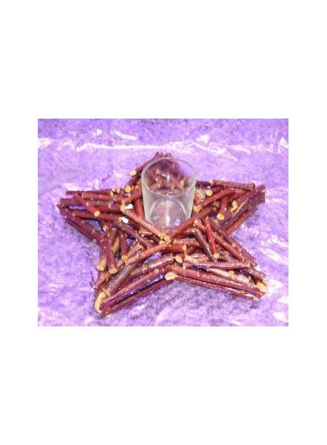 décoration étoile en bois