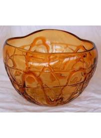 Vase rond orange 16.5X16.5X10.5 cm