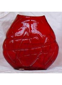 Vase rouge 18X7X18 cm