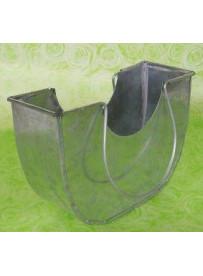 Cache pot métal forme panier