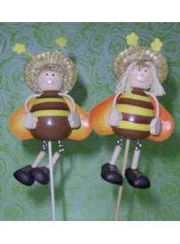 Abeille en bois grand format 2 pieces