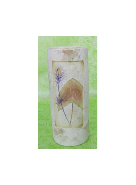 VASE CERAMIQUE DECORATION FEUILLE 20CM