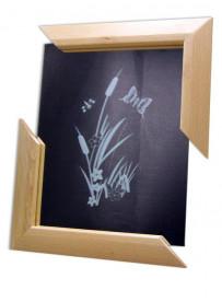 Miroir vertical encadrement  2 coins 300X240