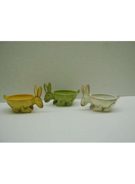 LOT DE 3 COUPES FORME LAPIN