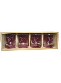 Coffret plumier en bois 4 verres whisky 30cl personnalisé