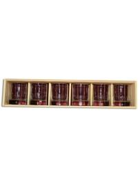 Coffret plumier en bois avec 6 verres whisky 30cl personnalisé