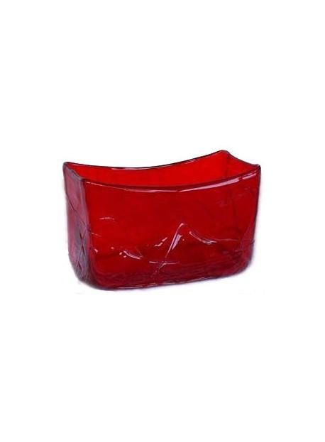 Vase rectangle rouge