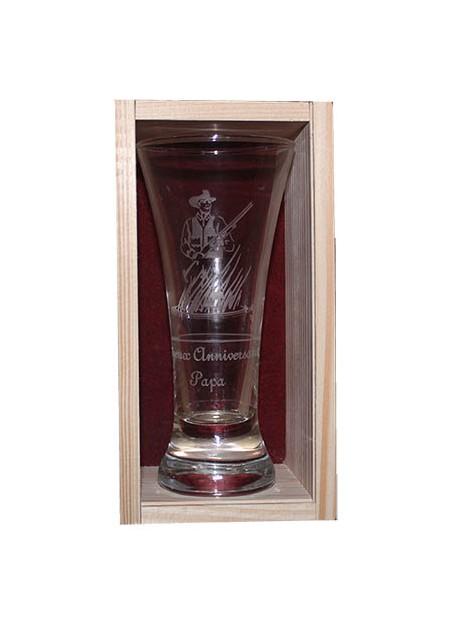 Coffret plumier en bois 1 verres à pastis 16 cl personnalisé
