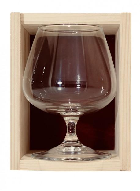 Coffret bois 2verres cognac 41cl
