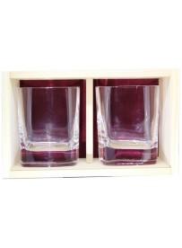 Coffret plumier bois 2 verres whisky strauss 29cl personnalisé