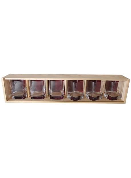 Coffret plumier bois 6 verres whisky strauss 29cl personnalisé