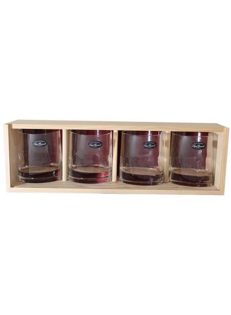 coffret plumier 4 verre whisky véronèse 31cl personnalisé