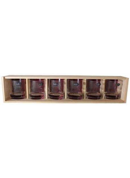 coffret plumier 6 verre whisky véronèse 31cl personnalisé