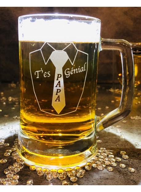 Chope à bière 39,50 cl  personnalisée
