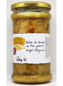 Délice de canard au foie gras et confit d'oignons 600gr